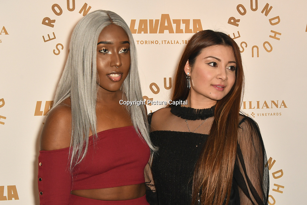 Mariana Mballo,Sophia Mina attend Biennial fundraiser in aid of The Roundhouse Trust which helps 3000  11-25 year-olds from all backgrounds to realise their creative potential through opportunities in music, media and performing arts on 14 March 2019 at Roundhouse Gala, London, UK.