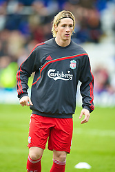 BIRMINGHAM, ENGLAND - Sunday, April 4, 2010: Liverpool's Fernando Torres warms-up before the Premiership match against Birmingham City at St Andrews. (Photo by David Rawcliffe/Propaganda)