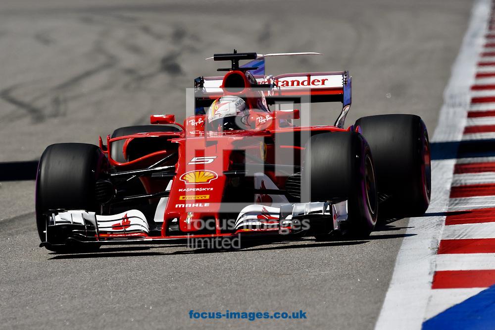 Sebastian Vettel of Scuderia Ferrari en route to coming second in the Russian Formula One Grand Prix at Sochi Autodrom, Sochi, Russia.<br /> Picture by EXPA Pictures/Focus Images Ltd 07814482222<br /> 30/04/2017<br /> *** UK & IRELAND ONLY ***<br /> <br /> EXPA-EIB-170430-0321.jpg