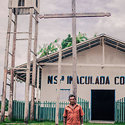 "The church of Anamuin near the border with Colombia, is the biggest and oldest community along the river Xié. Mr. Zé is the ""capitão"", the leader of the community"