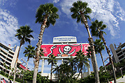 TAMPA, FL - OCTOBER 15:  Palm trees decorate the entrance to the stadium for the Tampa Bay Buccaneers game against the Cincinnati Bengals at Raymond James Stadium on October 15, 2006 in Tampa, Florida. The Bucs defeated the Bengals 14-13. (©Paul Anthony Spinelli)