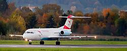 THEMENBILD - Ein Jet der Austrian Airlines am 21. Oktober 2013 am Flughafen Graz Thalerhof // a jet from the Austrian Airlines on 21 October 2013. EXPA Pictures © 2013, PhotoCredit: EXPA/ Erwin Scheriau