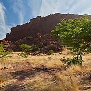 Valley walls at Twyfelfontein, Namibia.