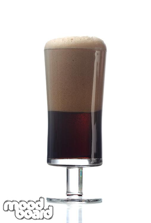 Studio shot of dark beer