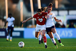 Megan Wynne of Bristol City Women is challenged by Jade Bailey of Liverpool Women - Mandatory by-line: Ryan Hiscott/JMP - 19/01/2020 - FOOTBALL - Stoke Gifford Stadium - Bristol, England - Bristol City Women v Liverpool Women - Barclays FA Women's Super League