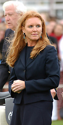 SARAH, DUCHESS OF YORK at the 2004 Cartier International polo day at Guards Polo Club, Windsor Great Park, Berkshire on 25th July 2004.