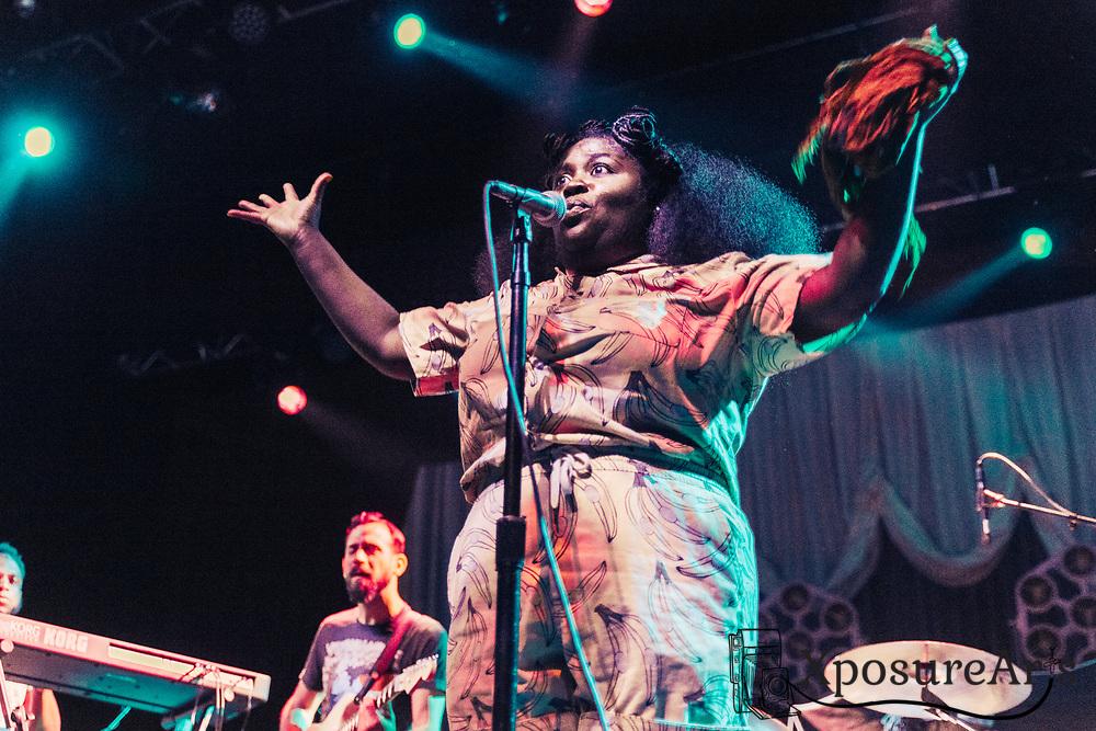 Tank and the Bangas perform at the Fox Theater in Oakland, CA. Photos: Karen Goldman. Instagram: @xposurearts <br /> Website: www.xposurearts.com