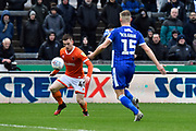 Connor Ronan (40) of Blackpool on the attack during the EFL Sky Bet League 1 match between Bristol Rovers and Blackpool at the Memorial Stadium, Bristol, England on 15 February 2020.