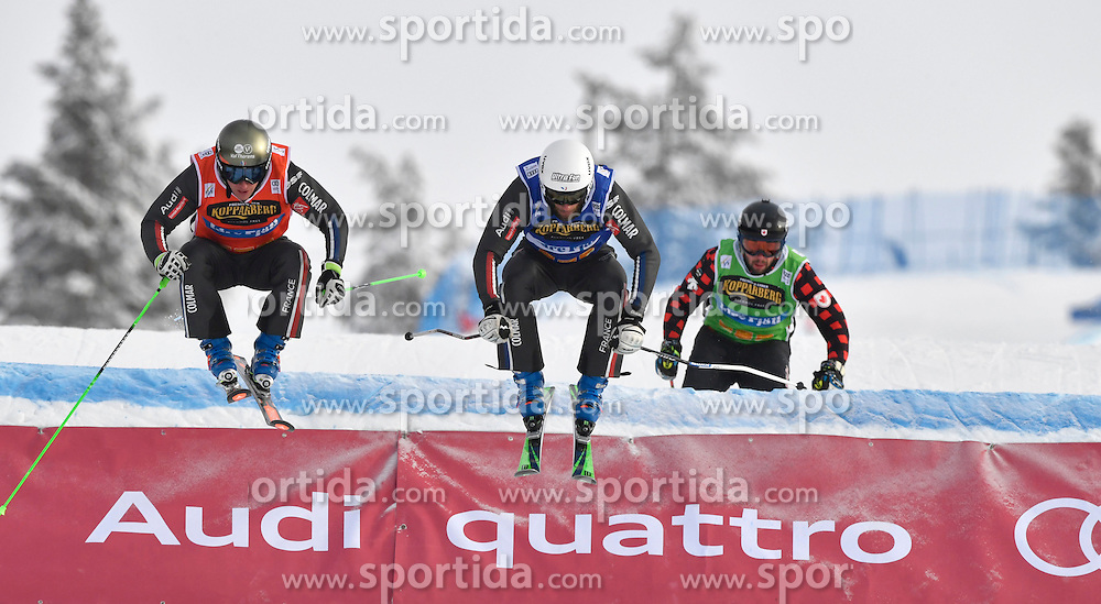 12.02.2017, Idre Fj&auml;ll, SWE, FIS Weltcup Ski Cross, Idre Fj&auml;ll, im Bild B-Abschluss, Terence Tchikanavorian vor Jean Frederic Chapuis // during the FIS Ski Cross World Cup in Idre Fj&auml;ll, Sweden on 2017/02/12. EXPA Pictures &copy; 2017, PhotoCredit: EXPA/ Nisse Schmidt<br /> <br /> *****ATTENTION - OUT of SWE*****