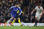 Chelsea striker Diego Costa (19) lining up a shot during the Champions League match between Chelsea and Paris Saint-Germain at Stamford Bridge, London, England on 9 March 2016. Photo by Matthew Redman.