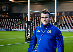 Peter Dooley of Leinster arrives at the stadium <br /> <br /> Photographer Simon King/Replay Images<br /> <br /> Guinness PRO14 Round 10 - Dragons v Leinster - Saturday 1st December 2018 - Rodney Parade - Newport<br /> <br /> World Copyright © Replay Images . All rights reserved. info@replayimages.co.uk - http://replayimages.co.uk