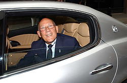 SIR STIRLING MOSS at an exhibition of photographs featuring Maserati cars held at the Michael Hoppen Gallery, 3 Jubilee Place, London SW3 on 13th July 2005.<br />