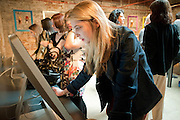daisy de villeneuve, Design Your Own Timberland breakfast and Autumn/ Winter 2011 preview. Timberland. 1 Fournier St. London. Followed by an art tour by Julia Royce. 8 June 2011. <br /> <br />  , -DO NOT ARCHIVE-© Copyright Photograph by Dafydd Jones. 248 Clapham Rd. London SW9 0PZ. Tel 0207 820 0771. www.dafjones.com.
