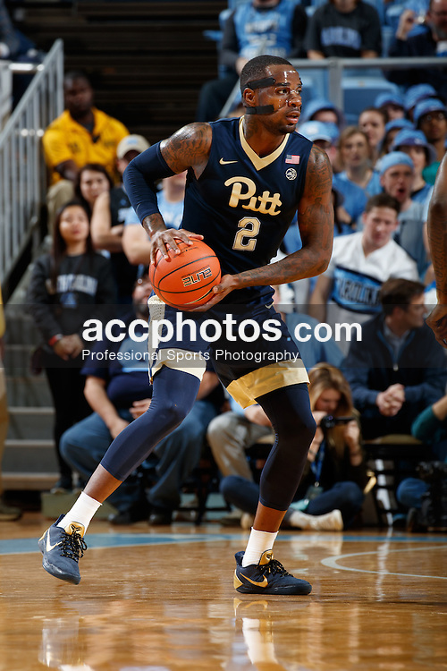 CHAPEL HILL, NC - JANUARY 31: Michael Young #2 of the Pittsburgh Panthers carries the ball while playing against the North Carolina Tar Heels on January 31, 2017 at the Dean Smith Center in Chapel Hill, North Carolina. North Carolina won 80-78. (Photo by Peyton Williams/UNC/Getty Images) *** Local Caption *** Michael Young