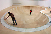 """Artist group Simparch, installation """"Free Basin"""" (2000-2002), a skate ring and sound sculpture.Old Binding Brewery exhibition site.."""