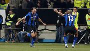 """Dejan Stankovic celbrates scoring.Esultanza di Stankovic.Milano 15/2/2009 Stadio """"Giuseppe Meazza"""".Campionato Italiano Serie A.Inter Milan."""