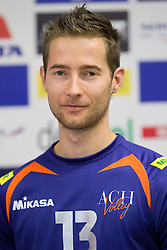 Ales Fabjan at press conference of volleyball club ACH Volley before new season 2010/2011, on November 5, 2010, in Ljubljana, Slovenia. (Photo by Vid Ponikvar / Sportida)