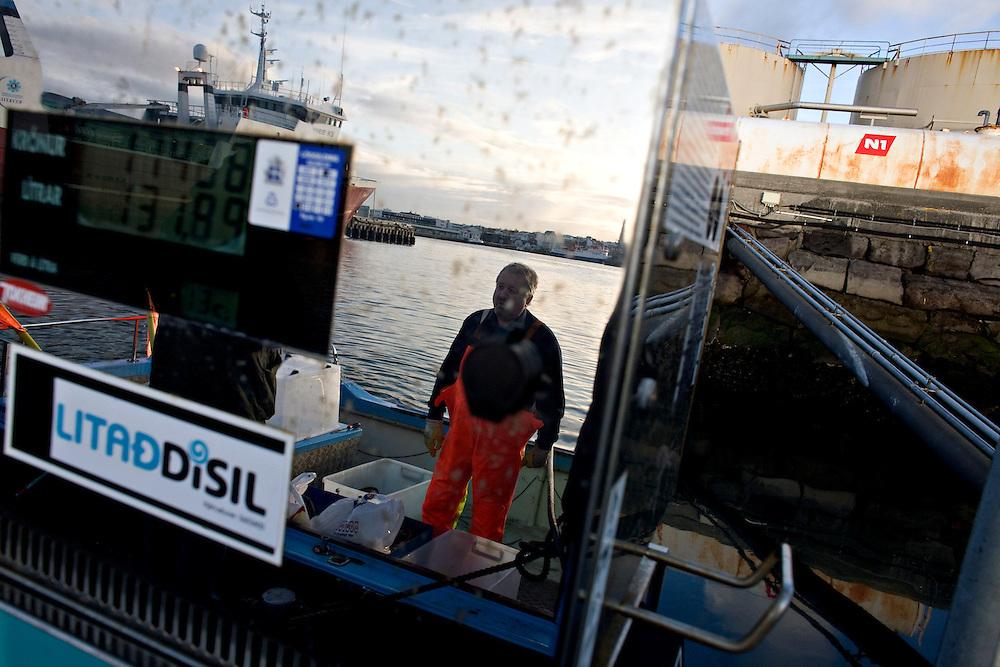 Iceland Crisis, October 8, 2008 ..Skipper Kjartan Thors.