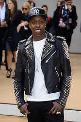 Arrivals for Burberry Prorsum Spring / Summer 2014. <br /> Jamal Edwards arrives for the Burberry Prorsum Spring / Summer 2014 show, London, United Kingdom. Monday, 16th September 2013. Picture by Chris Joseph / i-Images
