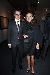 Private View of the Pavilion of Art & Design London 2010 held in Berkeley Square, London on 11th October 2010.<br /> Picture Shows:- HON.JAMES PALAUMBO and SARA CARELLO