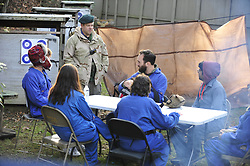 Journalists in a Hostile Environment First Aid Training (HEFAT) course participate as students in activity drills and hands-on skill labs to help prepare them for working in inhospitable locations around the globe. Photo By   Chris Post<br /> <br /> This course is offered in conjunction with @BlueMountainGroup , @TYRBluemountain and the support of @NorthamptonCommunityCollege in Bethlehem, Pa. USA<br /> www.Northampton.edu/hefat