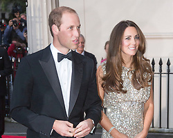 LONDON- UK - 12-SEPT-2013: Britain's Prince WIlliam and Kate, The Duke of Cambridge, Patron of Tusk, and The Duchess of Cambridge attend the inaugural Tusk Conservation Awards at The Royal Society, London.<br /> These awards aim to celebrate outstanding achievement in the field of African conservation. From practical field conservation to successful environmental education, the Tusk Conservation Awards recognise the achievements of individuals who are ensuring the future of Africa and bringing the challenges faced by the continent to a global audience. The ceremony will be a celebration of Africa&rsquo;s &lsquo;unsung&rsquo; heroes of conservation.<br /> Photograph by Ian Jones