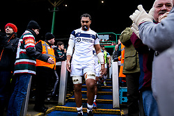 Chris Vui of Bristol Bears walks out to face Leicester Tigers - Mandatory by-line: Robbie Stephenson/JMP - 04/01/2020 - RUGBY - Welford Road - Leicester, England - Leicester Tigers v Bristol Bears - Gallagher Premiership Rugby