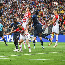 Mario Mandzukic of Croatia score a goal againt his team during the World Cup Final match between France and Croatia at Luzhniki Stadium on July 15, 2018 in Moscow, Russia. (Photo by Anthony Dibon/Icon Sport)