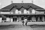 Smedjebackens station på järnvägen mot Ludvika