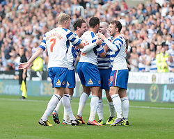 Reading celebrate Reading's Danny Guthrie's goal - Photo mandatory by-line: Nigel Pitts-Drake/JMP - Tel: Mobile: 07966 386802 28/09/2013 - SPORT - FOOTBALL - Madejski Stadium - Reading - Reading V Birmingham City - Sky Bet Championship