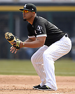 CHICAGO - APRIL 11:  Jose Abreu #79 of the Chicago White Sox fields against the Tampa Bay Rays on April 11, 2018 at Guaranteed Rate Field in Chicago, Illinois.  (Photo by Ron Vesely)  Subject:   Jose Abreu
