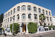 Israel, Tel Aviv, Tziporen House Renovated Bauhaus building at 45 Ehad Haam Street. UNESCO has declared Tel Aviv an international heritage due to the abundance of the Bauhaus architectural style