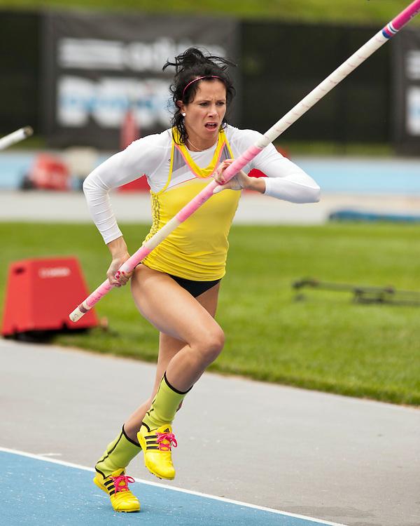 adidas Grand Prix Diamond League professional track & field meet: womens pole vault, Jenn Suhr, USA