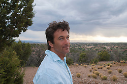 portrait of Actor Nick Gregory on location in Santa Fe, NM