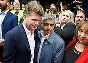 Vigil for the people murdered in the Pulse Club shooting in Orlando Florida by Omar Mateen<br /> in Old Compton Street, London, Great Britain <br /> 13th June 2016 <br /> <br /> with Sadiq Khan <br /> Mayor of London <br /> <br /> <br /> Matthew Barzun  - United States Ambassador to the United Kingdom<br /> Ambassador of the United States <br /> <br /> Photograph by Elliott Franks <br /> Image licensed to Elliott Franks Photography Services