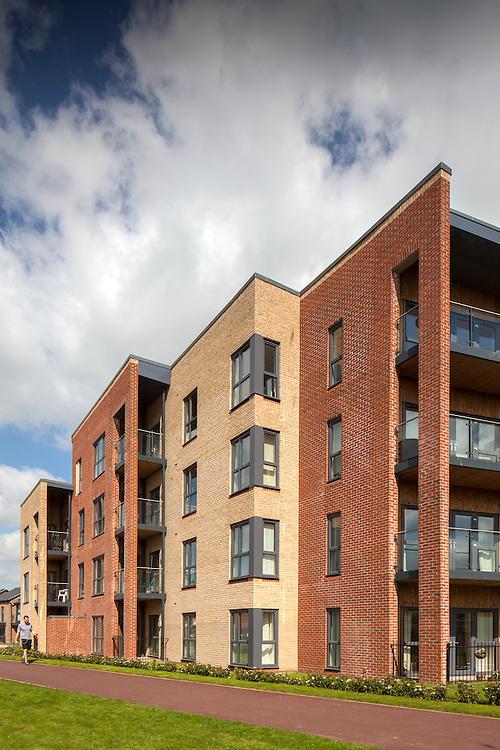housing estate milton keynes england uk residential