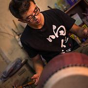Xiangrenhe Drummaker Wang Xi Kun, Xinzhuang, Taipei, Taiwan