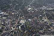 aerial photograph of  Norwich city centre Norfolk England UK showing the area River Wensum including Duke St Norwich NR3 3AP ,  St Giles St, City Hall, St Peters St and Norwich Market