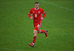 NEWPORT, WALES - Monday, October 14, 2019: Wales' Scott Smith during an Under-19's International Friendly match between Wales and Austria at Dragon Park. (Pic by David Rawcliffe/Propaganda)