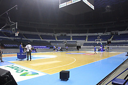 September 17, 2018 - Quezon City, NCR, Philippines - The game between the Philippines and Qatar was unique in the sense that it was held behind closed doors with only a handful of officials and a select number of media were allowed to witness the game inside the venue as part of the sanctions against the Philippines for their part in the brawl-marred game against Australia last July. (Credit Image: © Dennis Jerome S. Acosta/Pacific Press via ZUMA Wire)