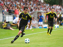 ZUG, SWITZERLAND - Wednesday, July 21, 2010: Liverpool's Alberto Aquilani in action against Grasshopper Club Zurich during the Reds' first preseason match of the 2010/2011 season at the Herti Stadium. (Pic by David Rawcliffe/Propaganda)