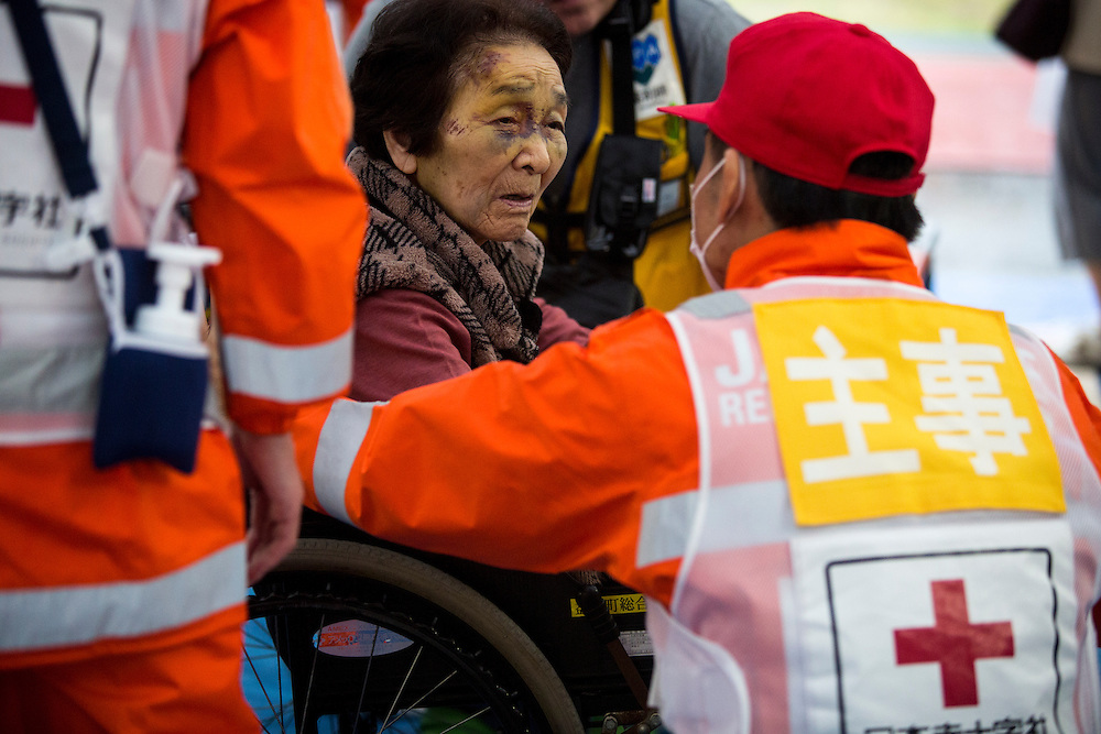 KUMAMOTO, JAPAN - APRIL 21:  <br /> <br /> To date 45 people are confirmed dead and around 11,000 people have evacuated after an 6.5 earthquake on Thursday night and a stronger 7.3 quake on Saturday morning struck the Kyushu Island in western Japan.<br /> <br /> Photo: Richard Atrero de Guzman