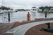 """Annapolis, Maryland - June 05, 2016: A perigean spring tide floods the Kunta Kinte-Alex Haley Memorial park located at the City Dock in historic Annapolis early Sunday morning June 5th, 2016.<br /> <br /> <br /> <br /> A perigean spring tide brings nuisance flooding to Annapolis, Md. These phenomena -- colloquially know as a """"King Tides"""" -- happen three to four times a year and create the highest tides for coastal areas, except when storms aren't a factor. Annapolis is extremely susceptible to nuisance flooding anyway, but the amount of nuisance flooding has skyrocketed in the last ten years. Scientists point to climate change for this uptick. <br /> <br /> <br /> CREDIT: Matt Roth for The New York Times<br /> Assignment ID: 30191272A"""