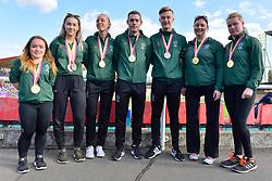Paralympics Ireland Medalists.  From left:  Niamh McCarthy, F41, IRE, Orla Comerford, T13, Greta Streimikyte, Jason Smyth, Lee Jordan, T47, Orla Barry, F57, Noelle Lenihan, F38 at the Berlin 2018 World Para Athletics European Championships