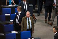 DEU, Deutschland, Germany, Berlin, 24.10.2017: Alexander Gauland, Vorsitzender der Bundestagsfraktion der Partei Alternative für Deutschland (AfD) bei der konstituierenden Sitzung des 19. Deutschen Bundestags mit Wahl des Bundestagspräsidenten.