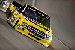 March 1, 2019 - Las Vegas, Nevada, U.S. - LAS VEGAS, NV - MARCH 01: Grant Enfinger (98) Curb Motorsports Ford F-150 racing during the Gander Outdoors Truck Series Strat 200 race on March 1, 2019, at Las Vegas Motor Speedway in Las Vegas, NV. (Photo by David Allio/Icon Sportswire) (Credit Image: © David Allio/Icon SMI via ZUMA Press)