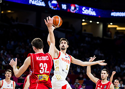 Ognjen Kuzmic of Serbia vs Aleksei Shved of Russia during basketball match between National Teams of Russia and Serbia at Day 16 in Semifinal of the FIBA EuroBasket 2017 at Sinan Erdem Dome in Istanbul, Turkey on September 15, 2017. Photo by Vid Ponikvar / Sportida