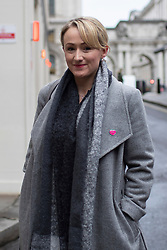 © Licensed to London News Pictures. 08/01/2020. London, UK. Labour Party leadership contender Rebecca Long-Bailey arrives in Westminster. Photo credit: George Cracknell Wright/LNP