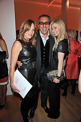 Left to right, EMILY OPPENHEIMER-TURNER, BROOSK SAIB and JENNY HALPERN-PRINCE at the TOD'S Art Plus Drama Party at the Whitechapel Gallery, London on 24th March 2011.