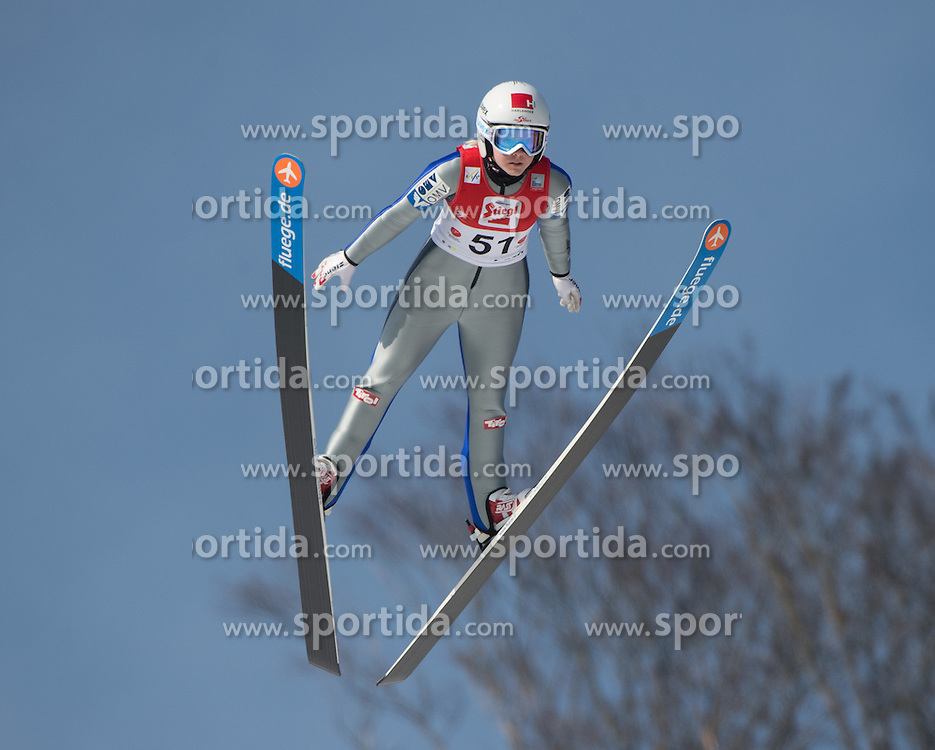 07.02.2016, Energie AG Skisprung Arena, Hinzenbach, AUT, FIS Weltcup Ski Sprung, Hinzenbach, Damen, Qualifikation, im Bild Chiara Hoelzl (AUT) // during Ladies Skijumping Qualification of FIS Skijumping World Cup at the Energie AG Skisprung Arena, Hinzenbach, Austria on 2016/02/07. EXPA Pictures © 2016, PhotoCredit: EXPA/ Reinhard Eisenbauer